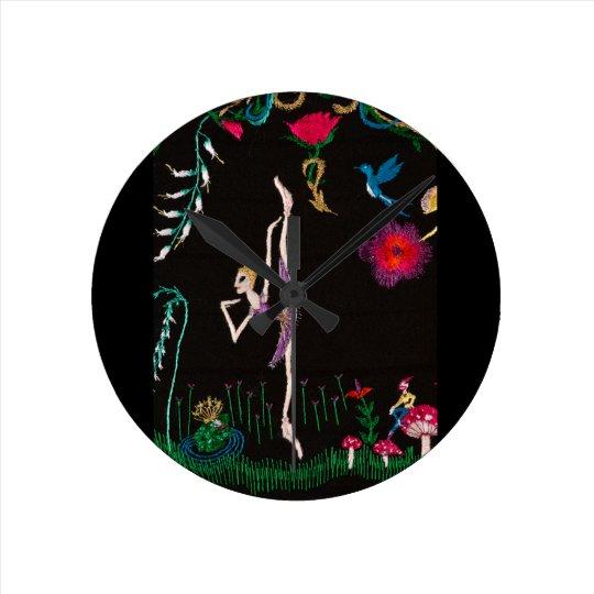bailarina reloj redondo mediano