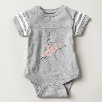 Bailarina rosada bonita body para bebé