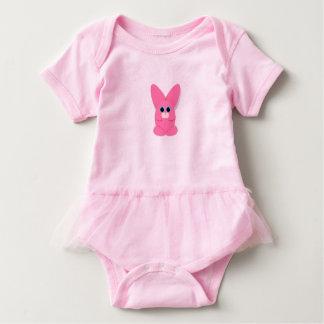 Bailarina rosada Bunn del bebé Body Para Bebé