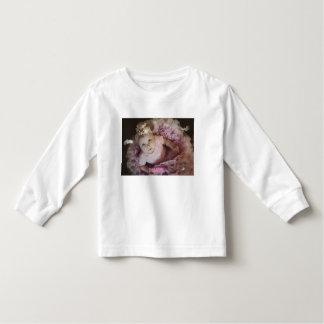 Bailarina rosada de la niña pequeña - camiseta