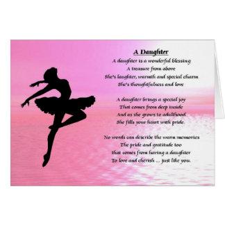 Bailarina - tarjeta del poema de la hija