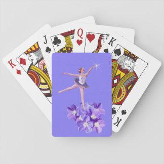 Bailarina y violetas adaptables cartas de póquer