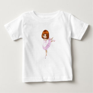 Bailarina y yo - camiseta fina del jersey del bebé