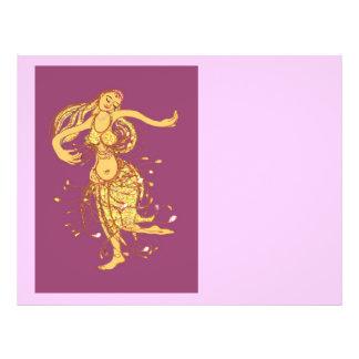 Bailarinas de la danza del vientre folleto 21,6 x 28 cm