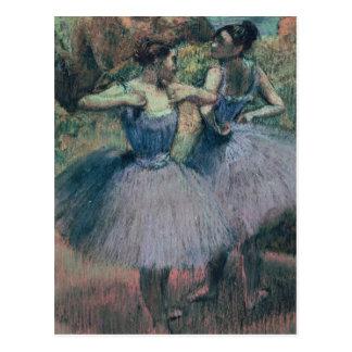 Bailarines de Edgar Degas el   en violeta Postal