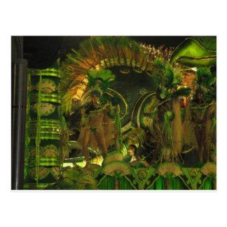 Bailarines de la samba en Carnaval en Río Postal