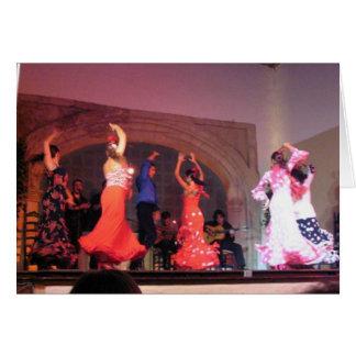 Bailarines del flamenco de Córdoba Tarjeta De Felicitación