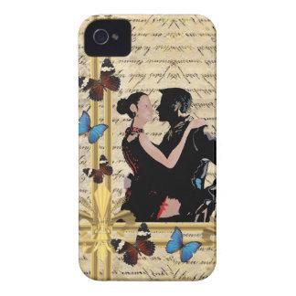 Bailarines del tango del vintage Case-Mate iPhone 4 carcasa