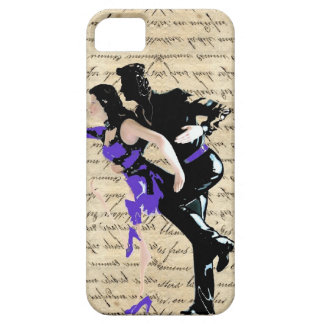 Bailarines del vintage del estilo del art déco funda para iPhone 5 barely there