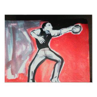 bailarines invitación 10,8 x 13,9 cm