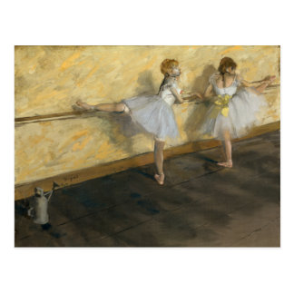 Bailarines que practican en la barra, Edgar Degas Postal