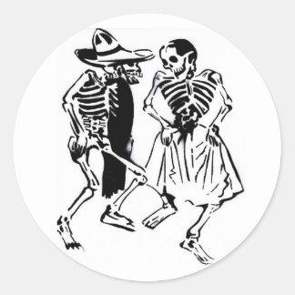 Baile Calaveras Pegatina Redonda