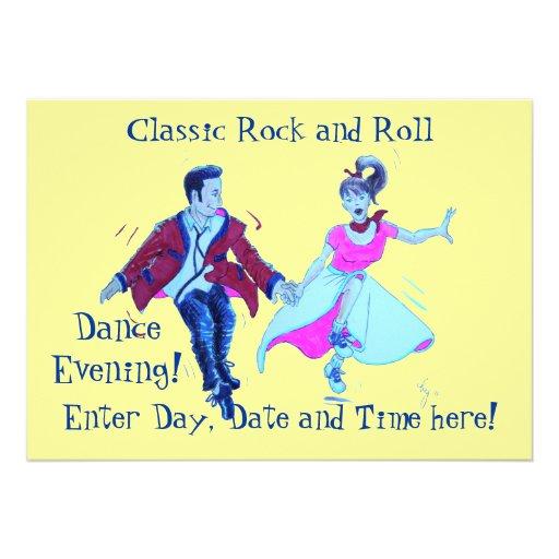 Baile clásico del rock-and-roll comunicados personales