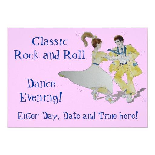Baile clásico del rock-and-roll comunicados