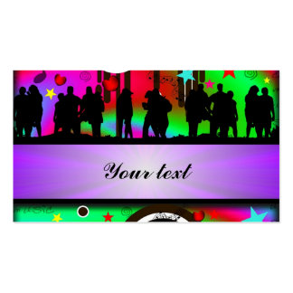 Baile colorido de la gente del fiesta tarjetas de visita