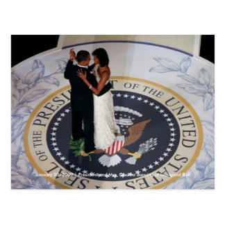 Baile de Barack y de Michelle Obama en la bola ina Postales