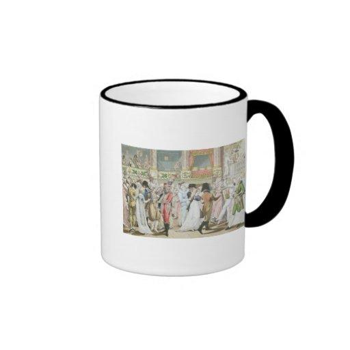 Baile de disfraces en la ópera, después de 1800 taza de café