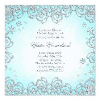 Baile de fin de curso de los copos de nieve del invitaciones personalizada