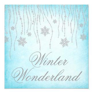 Baile de fin de curso de los copos de nieve del invitación 13,3 cm x 13,3cm