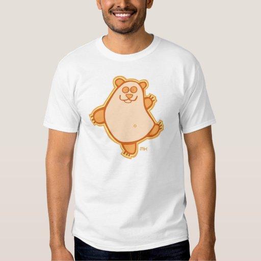 Baile de la panda - naranja camisetas