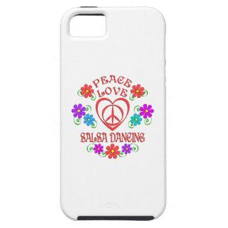 Baile de la salsa del amor de la paz funda para iPhone SE/5/5s