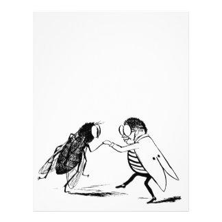 Baile de los insectos del vintage; Mosca del Folleto 21,6 X 28 Cm