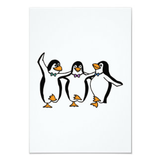 Baile de los pingüinos invitación 8,9 x 12,7 cm