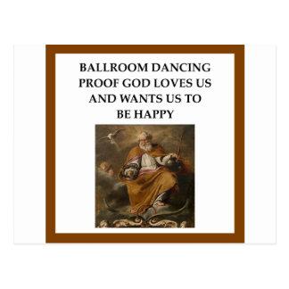 baile de salón de baile postal