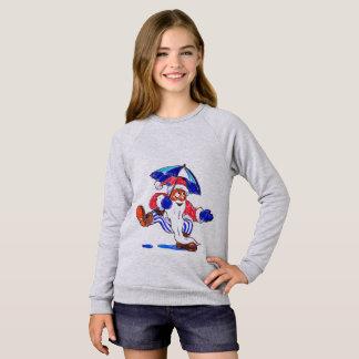 Baile de Santa en la camiseta del niño de la