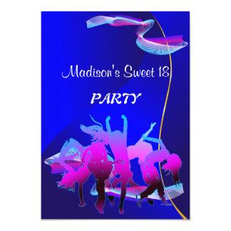 Baile del cumpleaños invitación personalizada