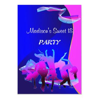 Baile del cumpleaños invitacion personalizada