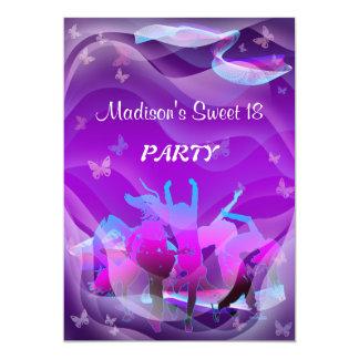 Baile del cumpleaños invitación 12,7 x 17,8 cm