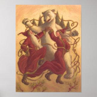 Baile del navidad del padre y de la madre poster