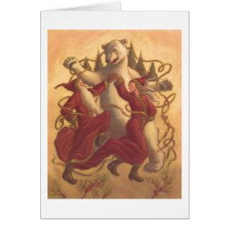 Baile del navidad del padre y de la madre tarjeta de felicitación