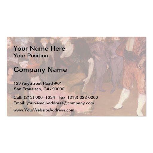 Baile del prestamista de Enrique Lautrec- Marcelle Plantillas De Tarjetas Personales