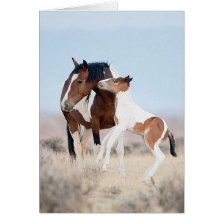 Baile en la tarjeta de felicitación del caballo