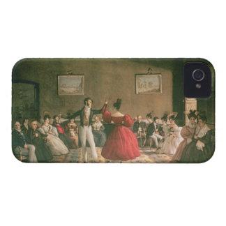 Baile en un salón en Buenos Aires c 1831 w c en Case-Mate iPhone 4 Cárcasa