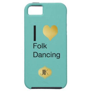 Baile popular del corazón juguetónamente elegante funda para iPhone SE/5/5s