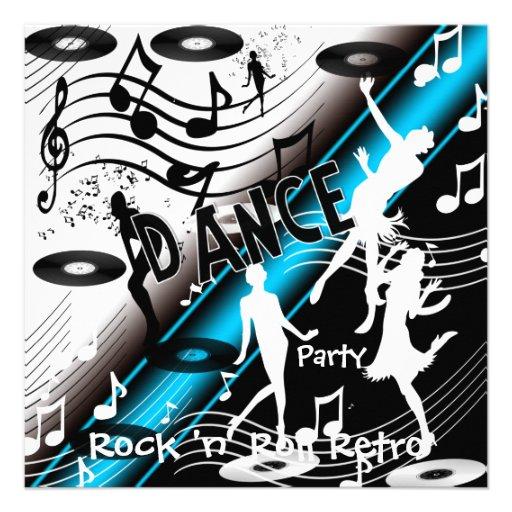 Baile retro del rock-and-roll de la invitación