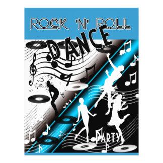 Baile retro del rock-and-roll del aviador folleto 21,6 x 28 cm
