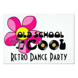 Baile retro - discos de vinilo frescos de la invitación 8,9 x 12,7 cm