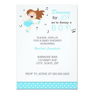 Baile trigueno para la ducha azul del bebé de la comunicado personal