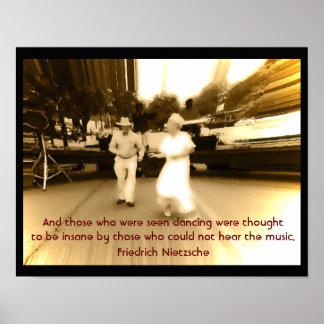 Baile visto - cita de Nietzsche - impresión del