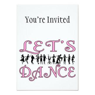 Bailemos pares del baile invitación 12,7 x 17,8 cm