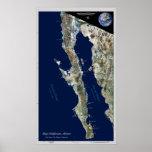Baja California, México:  poster por satélite