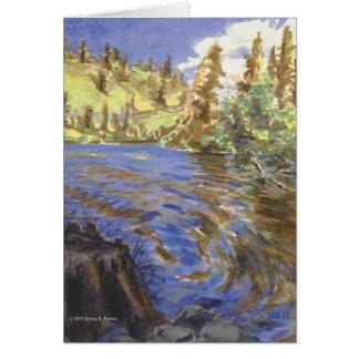 Baje la tarjeta gemela de los lagos