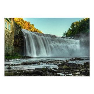 Baje las caídas, río de Genesee, Rochester, NY Arte Fotografico