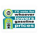 Baje los precios de la gasolina postales