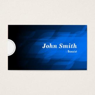 Bajista - azul marino moderno tarjeta de negocios