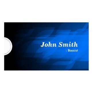 Bajista - azul marino moderno tarjetas de visita